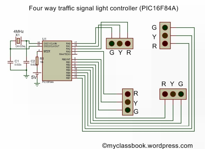four-way-traffic-contoll-using-pic16f84a-microcontroller