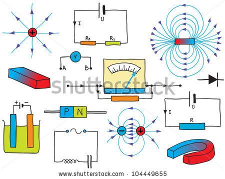 stock-photo-illustration-of-physics-electricity-and-magnetism-phenomena-hand-drawn-symbols-104449655