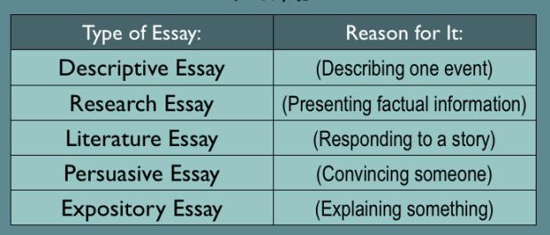 essay-types