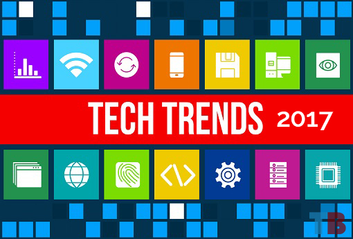 Tech Trends concept image with business icons and