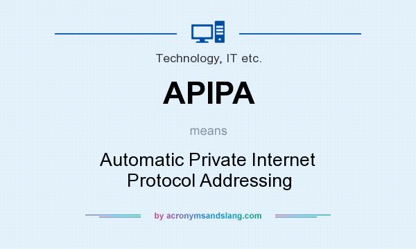 APIPA means - Automatic Private Internet Protocol Addressing
